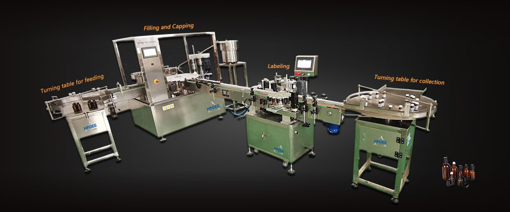 essential oil filling capping labeling machine-1